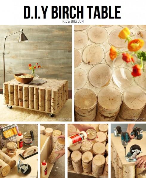DIY Birch Table