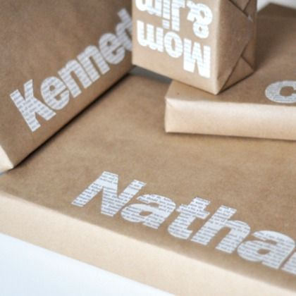DIY Newprint Names