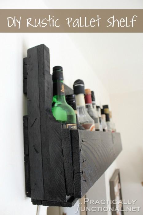 DIY Pallet Shelf