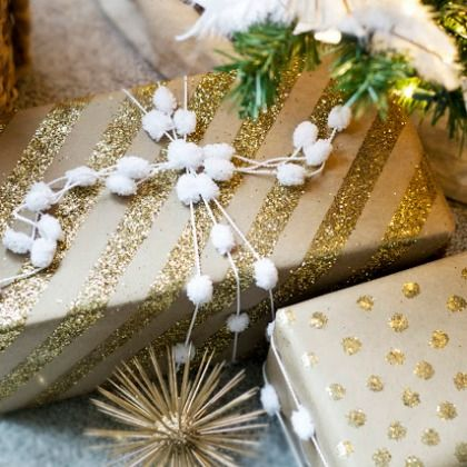 DIY Wrapping Paper Glam