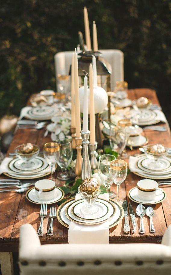 Elegant Thanksgiving Table Decor