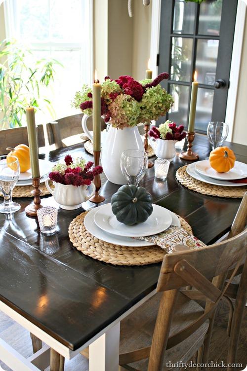 Fall themed Table Decor