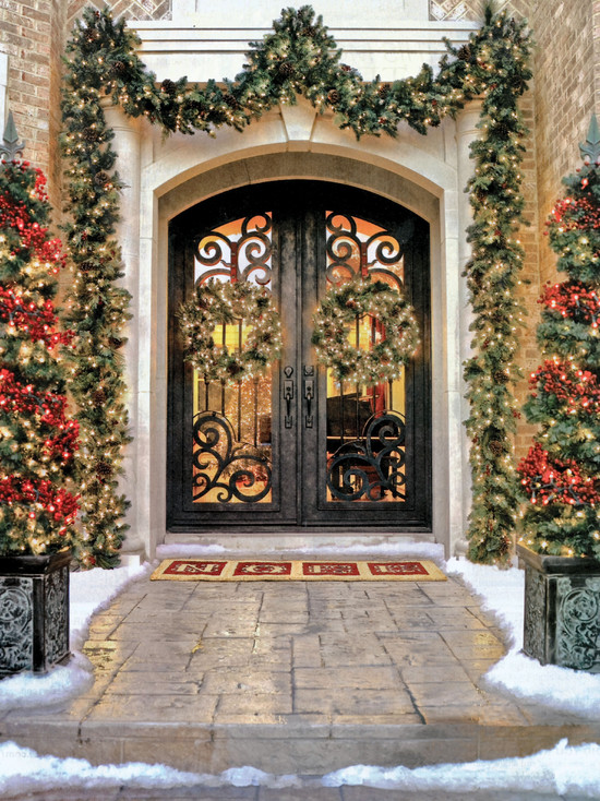 Mediterranean-Entry for Christmas Design Idea