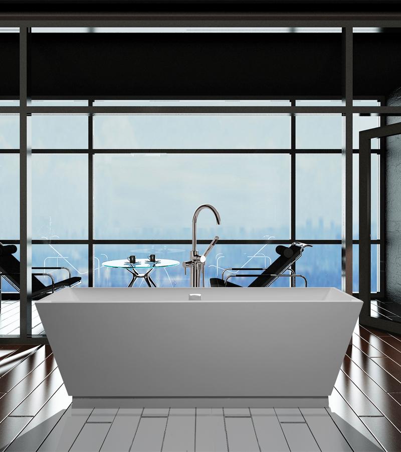 Modern Rectangular Bathtub