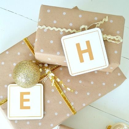 Monogrammed Coasters Gift Tags