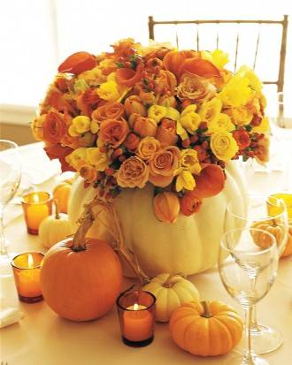 Pumpkin Harvest Center piece