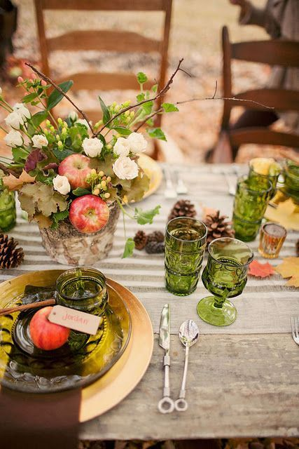 Rustic Country Thanksgiving Table Decor