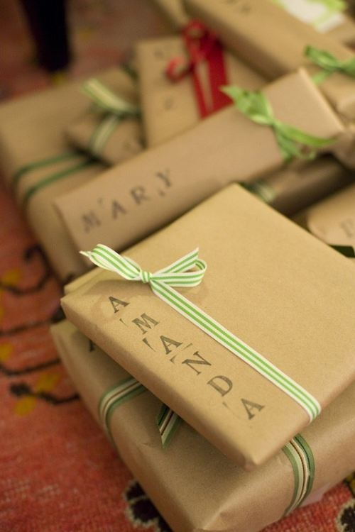 Stamp Names - Gift wrapping