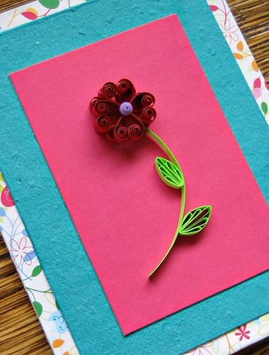 Valentine Flower Card Tutorial