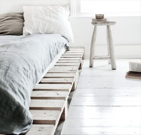 Wooden Bed Crate Decor