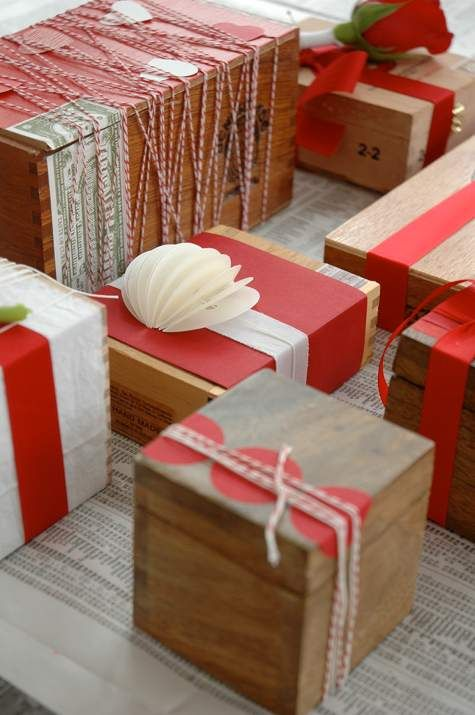 Wrapping Holiday Boxes
