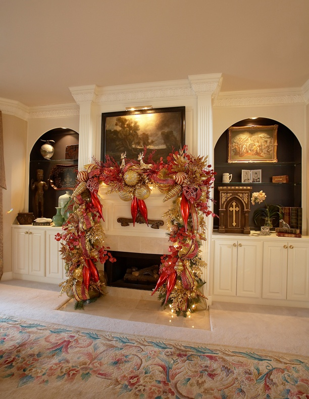 awesome fireplace decors for christmas